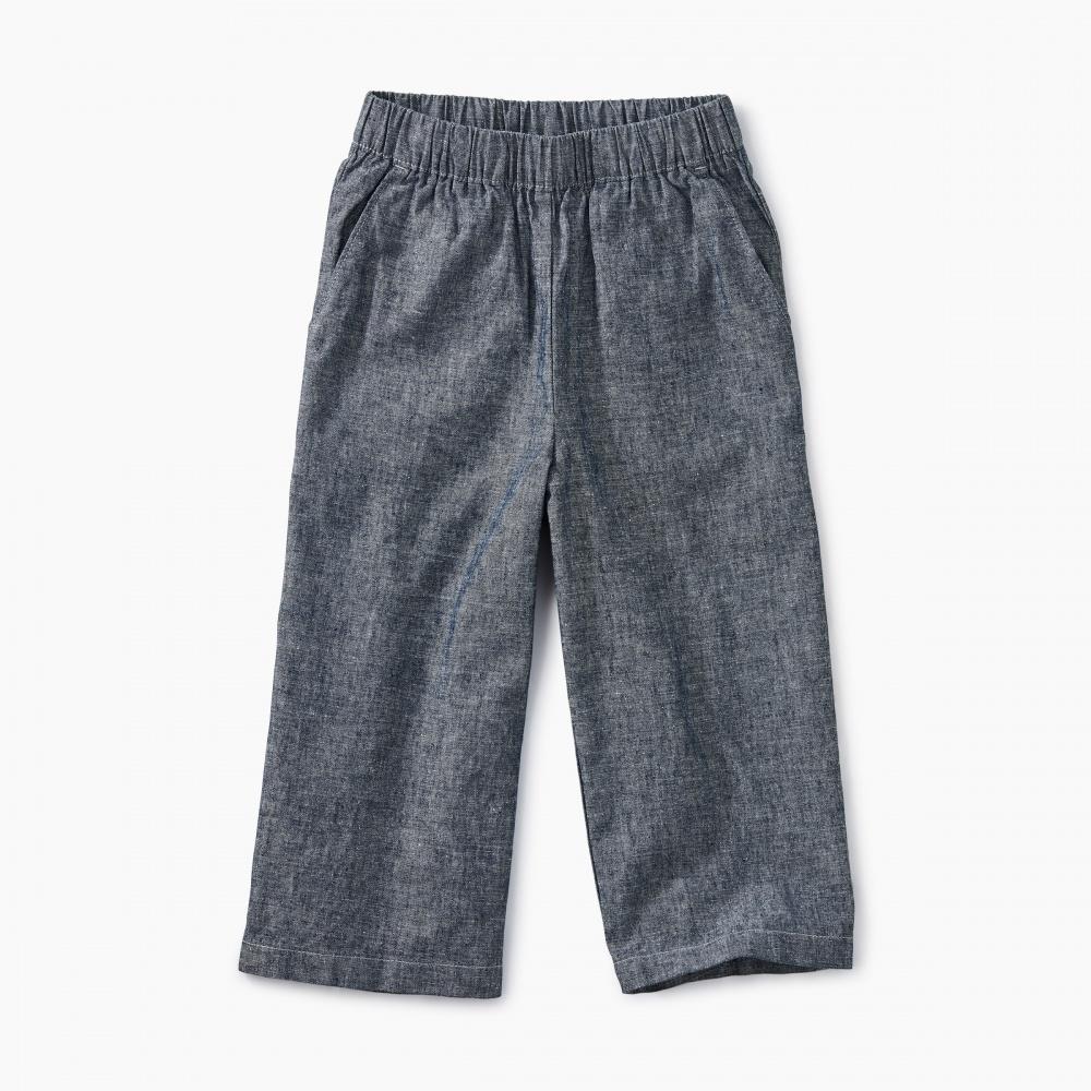 Chambray Wide Leg Pant