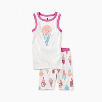 Ice Cream Graphic Tank Pajamas