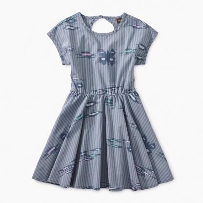 Ikat Striped Keyhole Dress