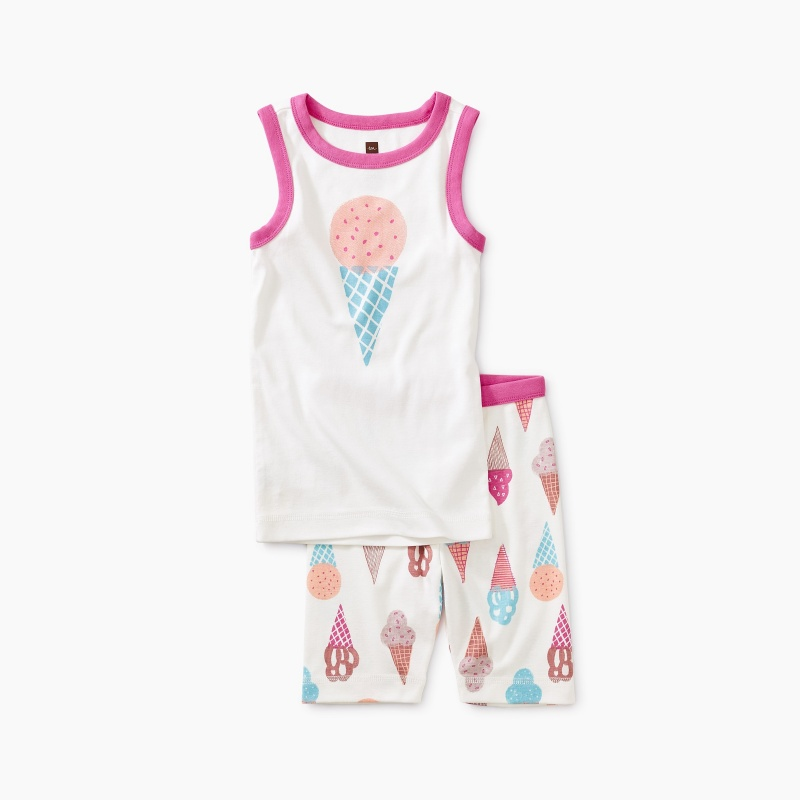 Ice Cream Graphic Tank Pajamas