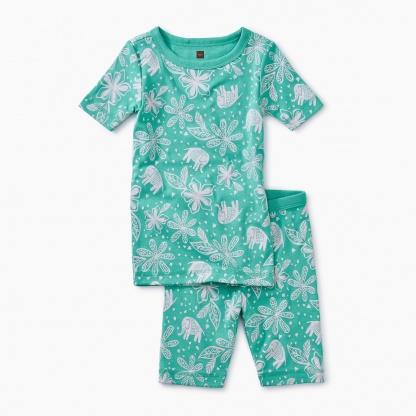 Printed Shortie Pajamas