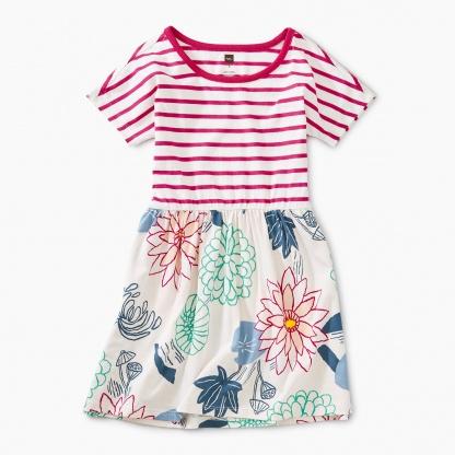 Mixed Pattern Twirl Dress