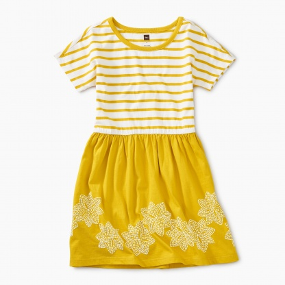 Geo Floral Graphic Twirl Dress