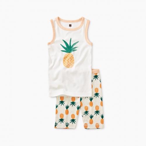 Pineapple Graphic Tank Pajamas