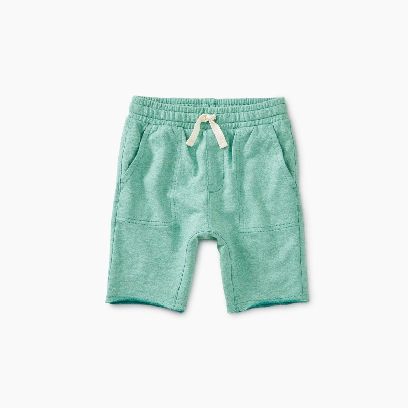 Two-Tone Knit Shorts