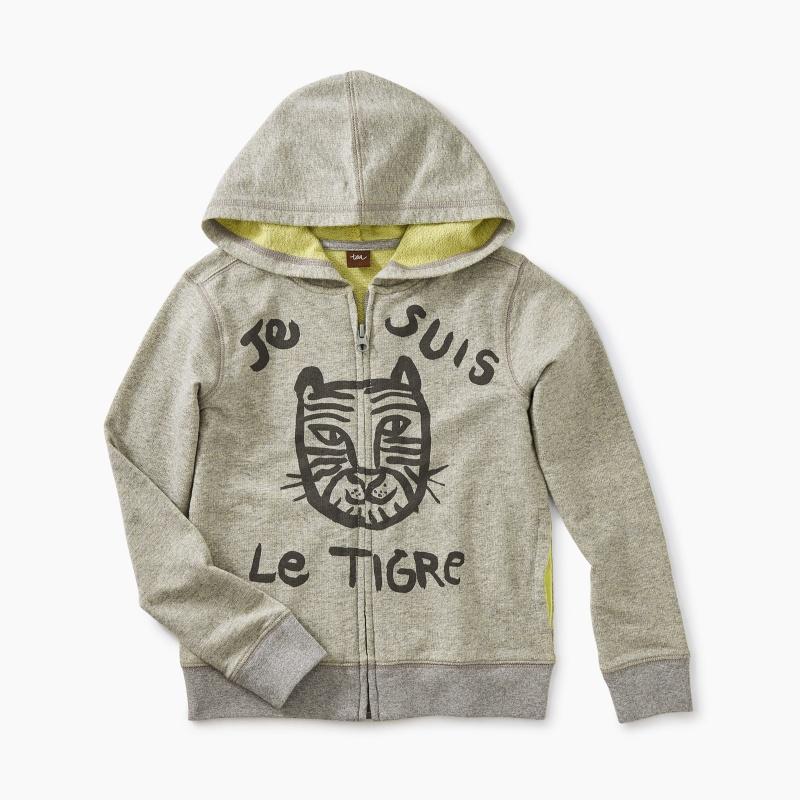 Le Tigre 2-Tone Zip Hoodie