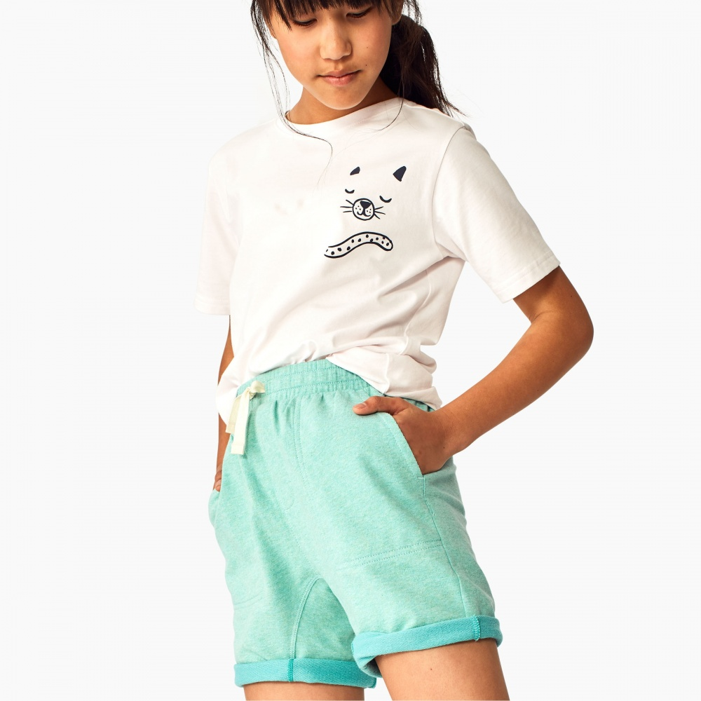 Two-Tone Rolled Cuff Short