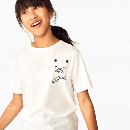 Yin Yang Cat Graphic Tee
