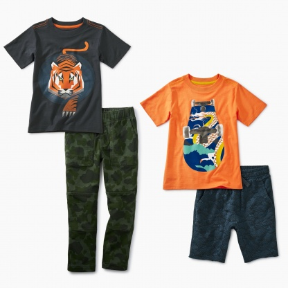 Mix And Match Clothing Cute Outfits For Boys Tea Collection