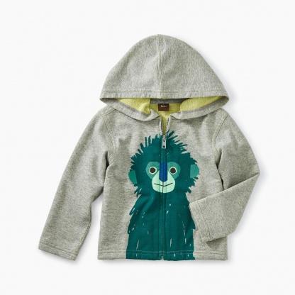 Langur Zip Baby Hoodie