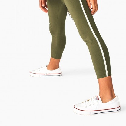 Side Stripe Capri Leggings
