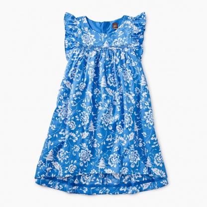 Printed Hi-Lo Woven Dress