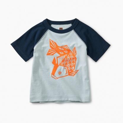 Koi Fish Raglan Baby Graphic Tee
