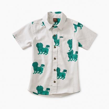 Lion Print Woven Shirt