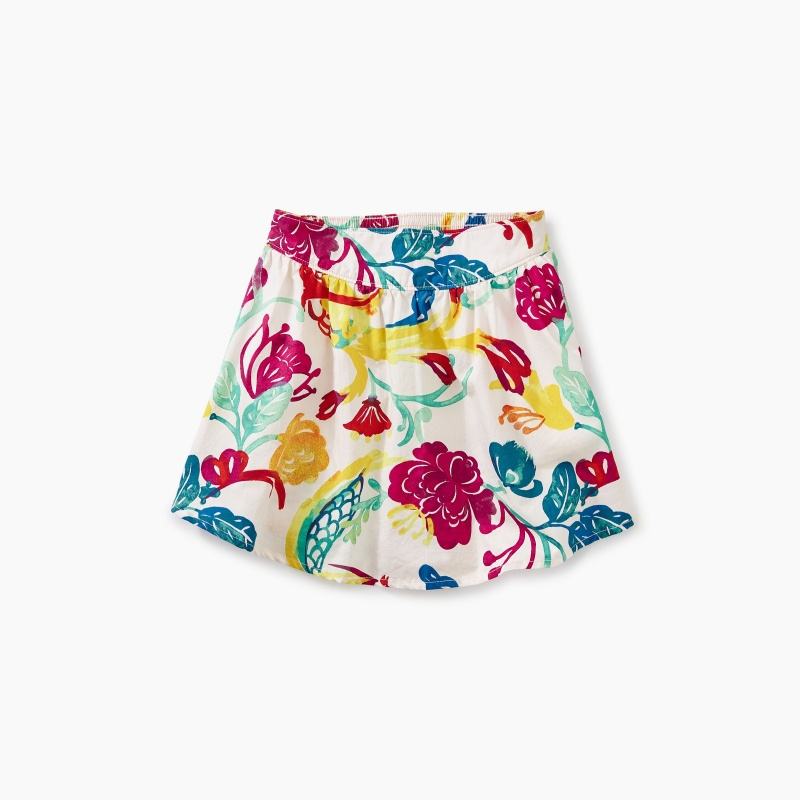 Papercut Floral Shirttail Skirt