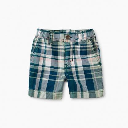 Plaid Baby Travel Shorts