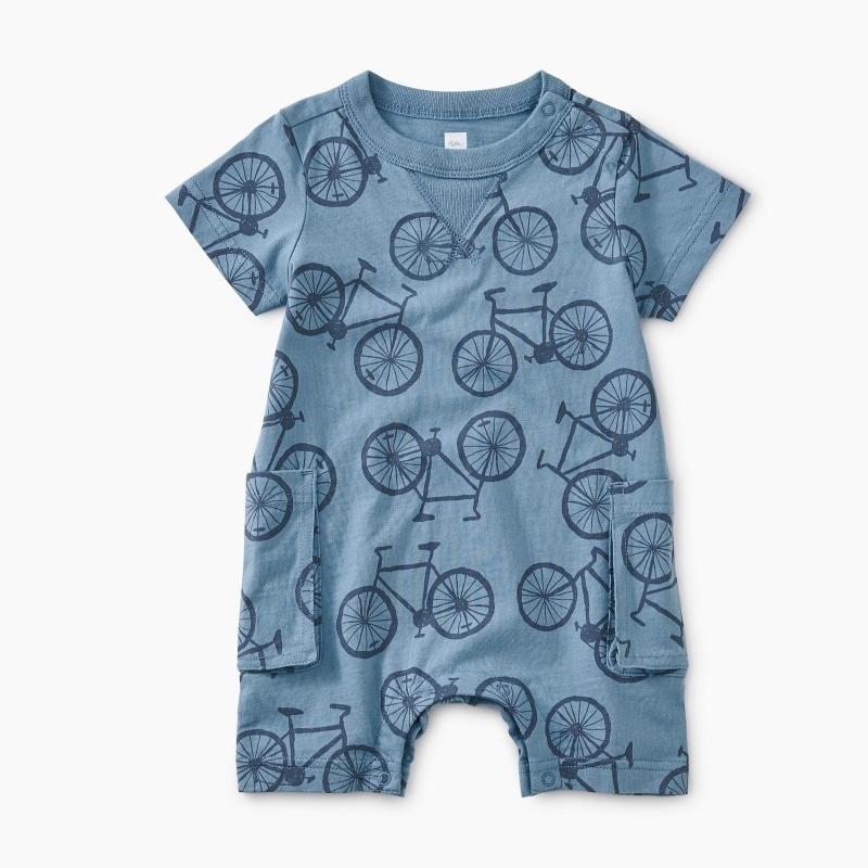 Bicycle Print Romper