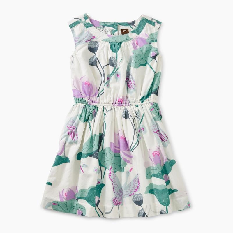 Lotus Flower Woven Dress