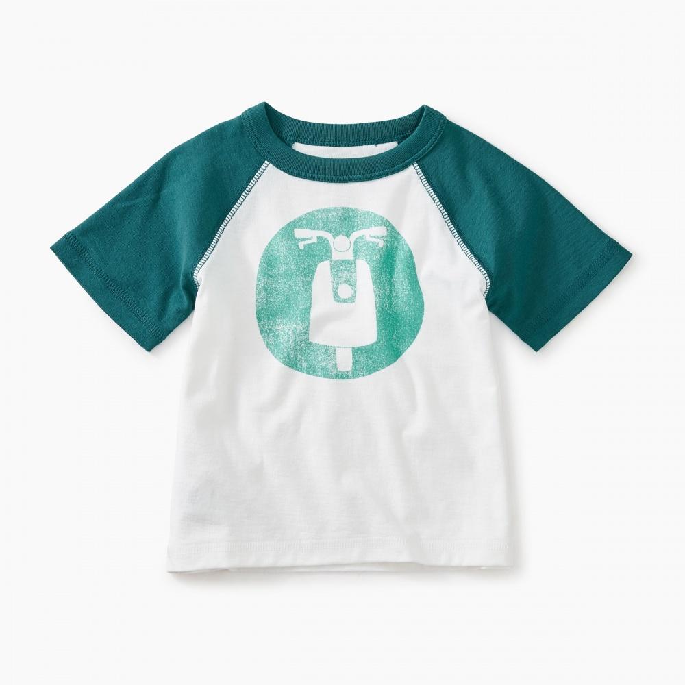 Moto Raglan Baby Graphic Tee