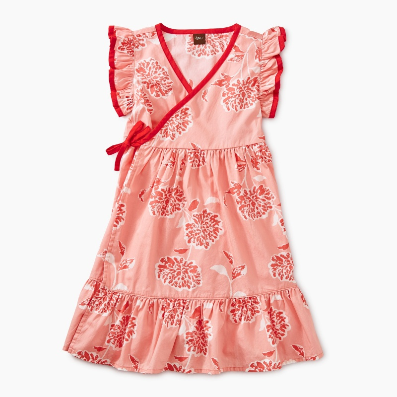 Printed Woven Wrap Dress