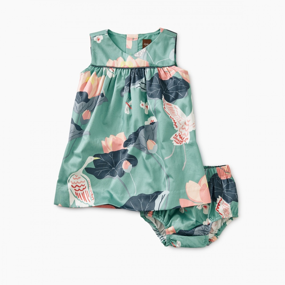 Wrap Neck Woven Baby Dress