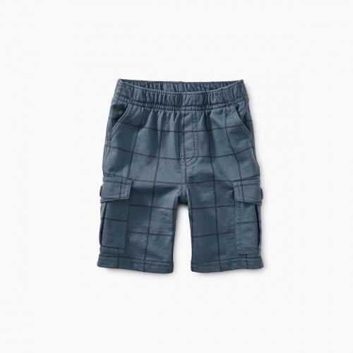 Windowpane Baby Cargo Shorts
