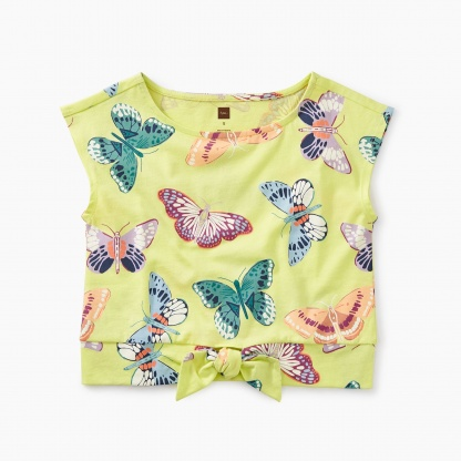 Printed Bow Waist Top
