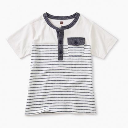 Striped Pocket Henley