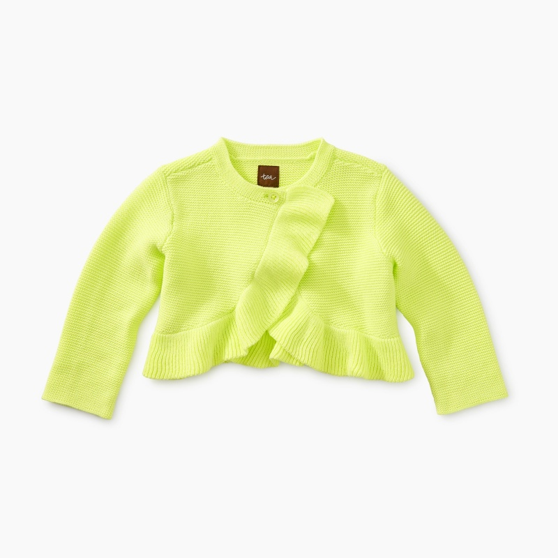 Ruffle Baby Sweater Cardigan