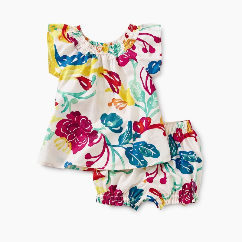 Woven Floral Baby Set