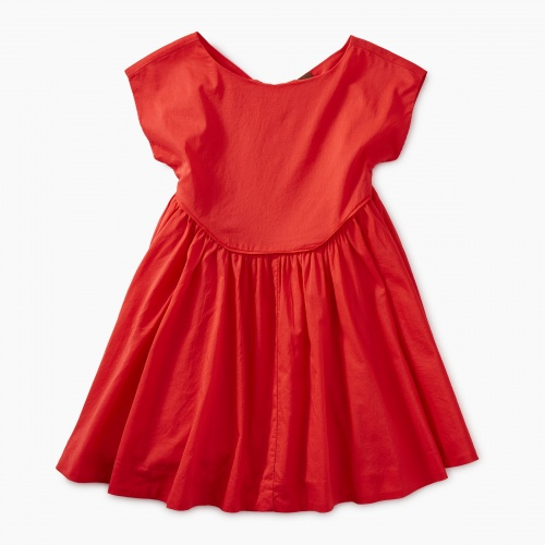 Button Back Skirted Dress
