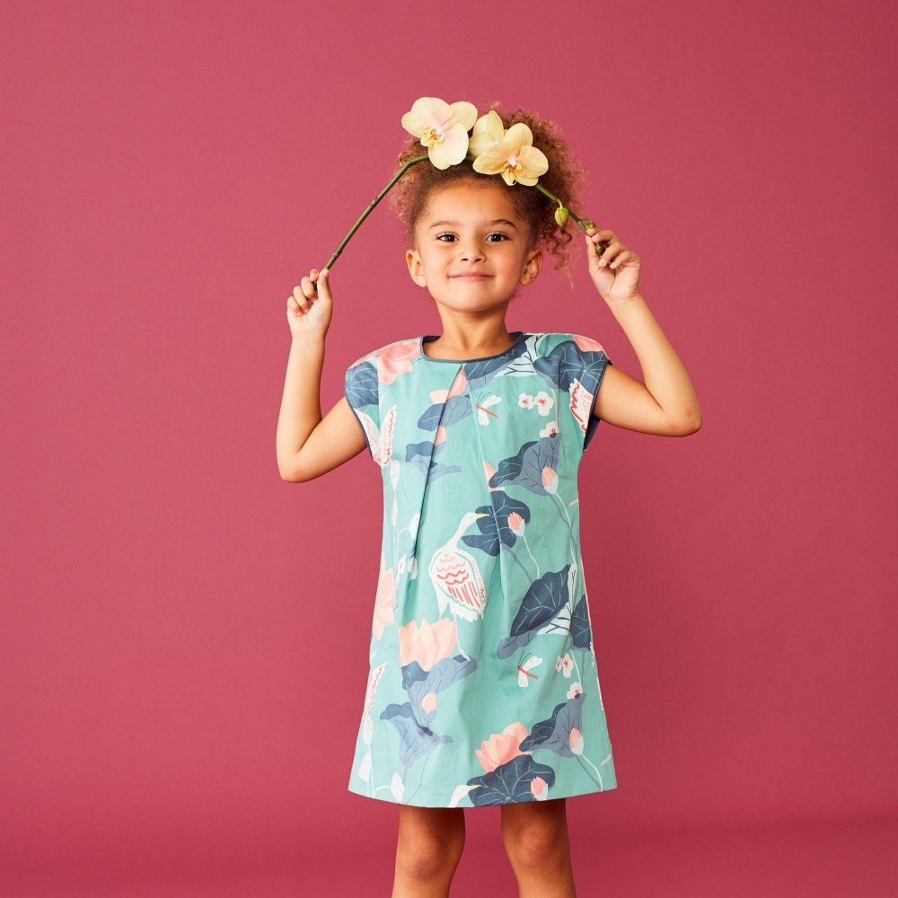 Printed Woven Pleated Dress