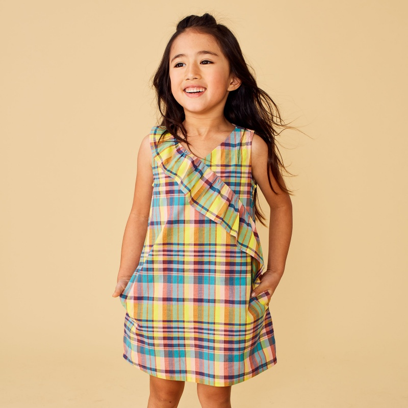 Madras Ruffle Dress