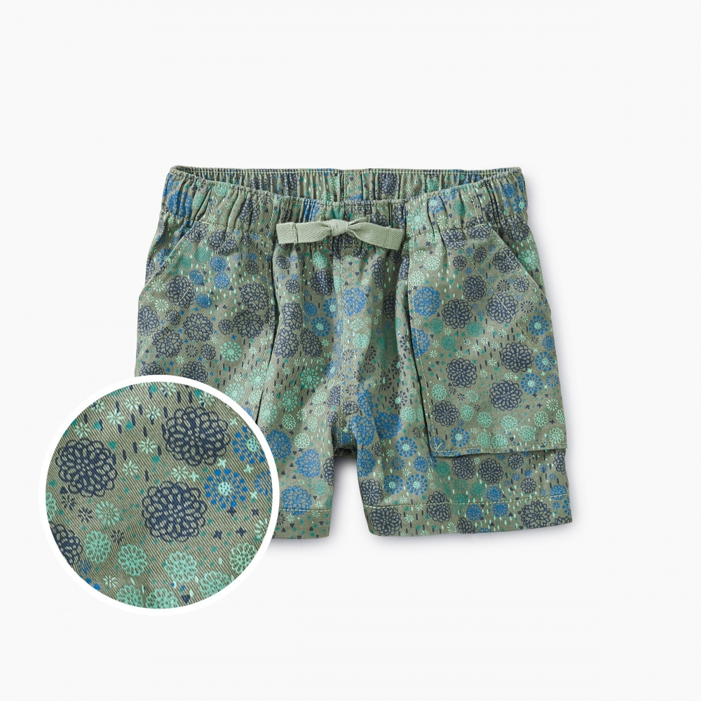 Ditsy Woven Pull-On Shorts