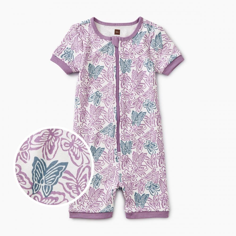 Printed Short Sleeve Baby Pajamas