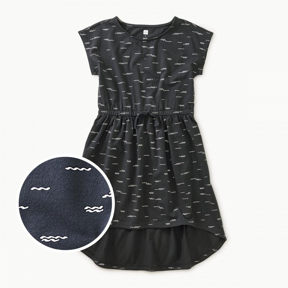 Sparkle Hi-Lo Tie Waist Dress