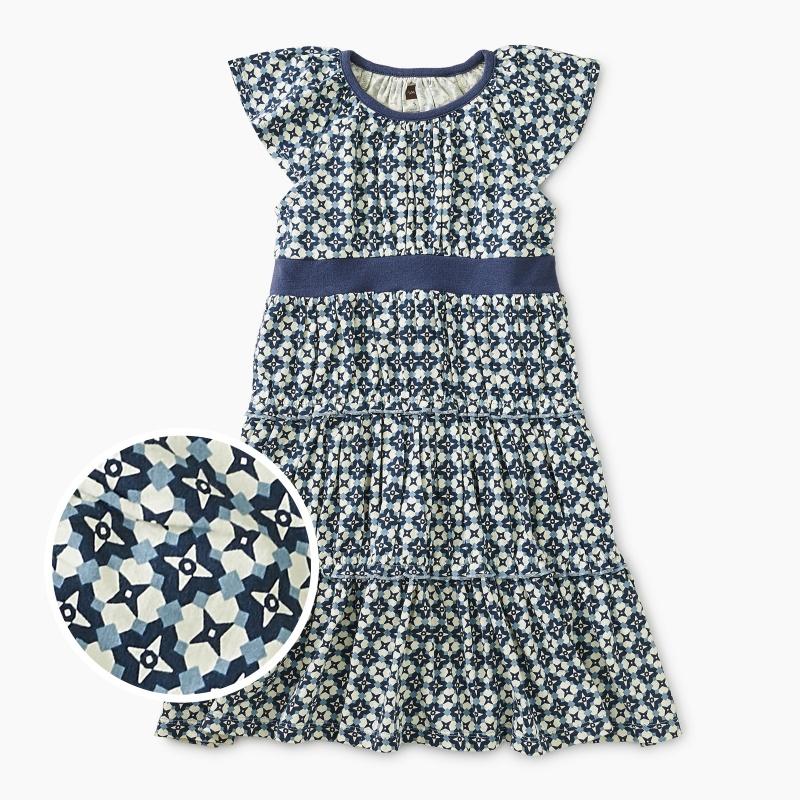 Printed Tiered Twirl Dress