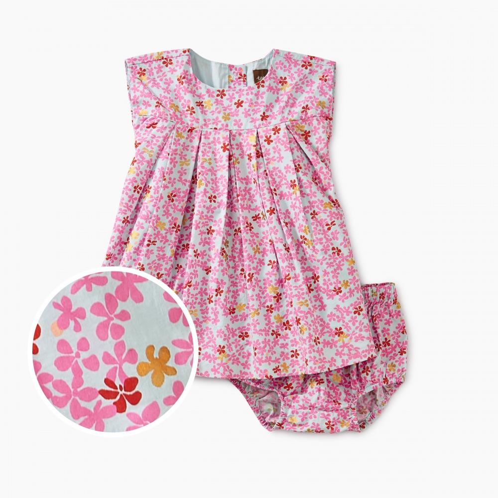 Ditsy Pleated Baby Dress