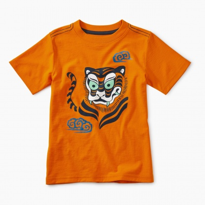 Woodblock Tiger Graphic Tee