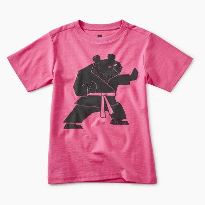 Martial Arts Bear Graphic Tee