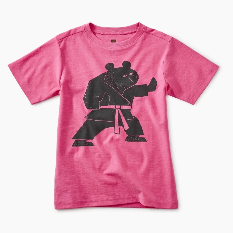 Martial Arts Bear Graphic Tee