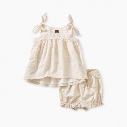 Hi-Lo Tie Shoulder Baby Set