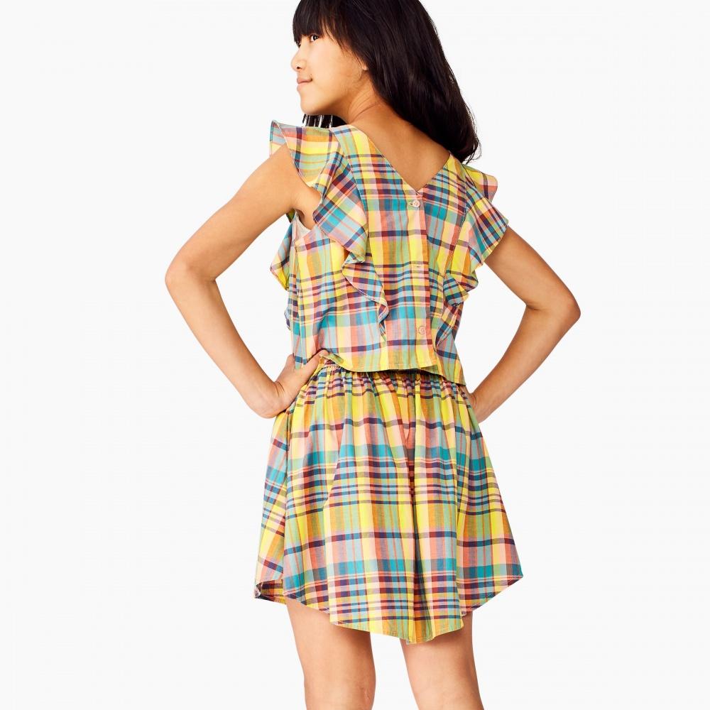 Madras Shirtail Skirt