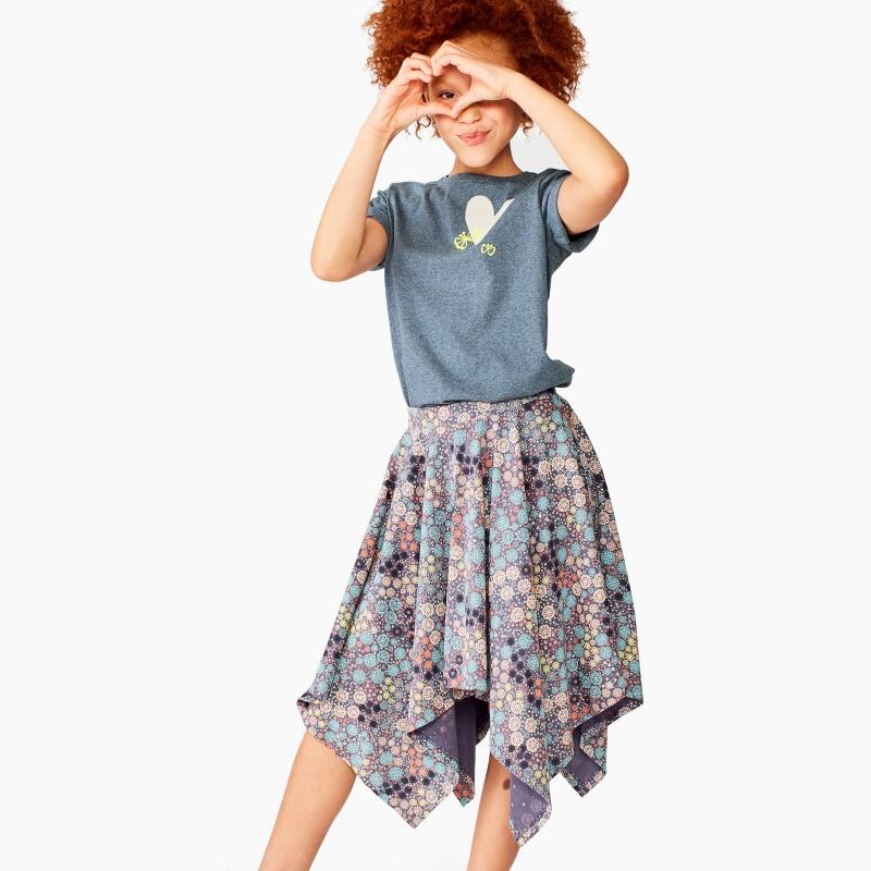 Ditsy Handkerchief Hem Skirt