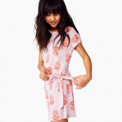 Printed Side Tie Dress