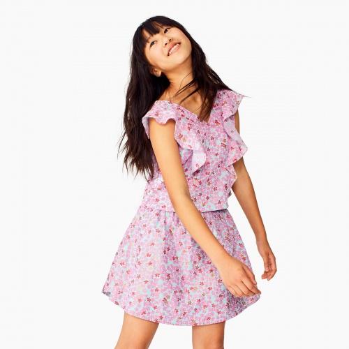 Ditsy Shirtail Skirt