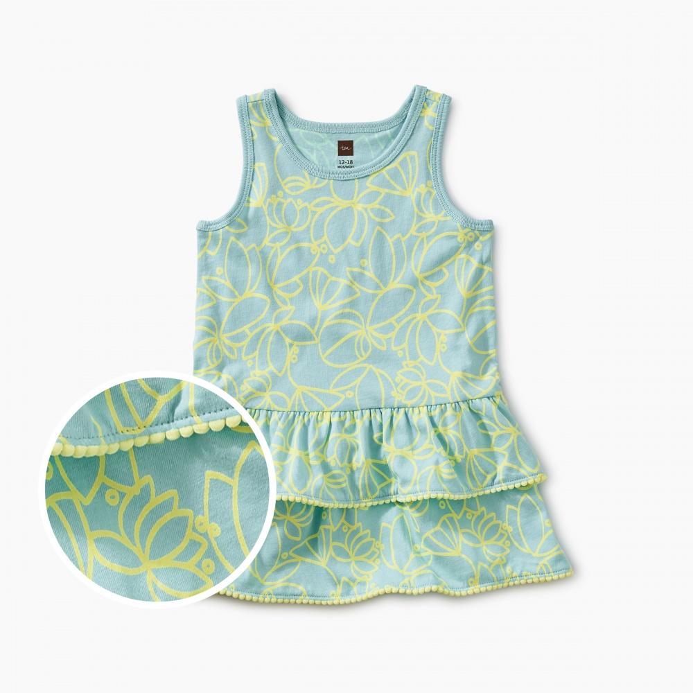 Pom Pom Ruffle Tank Baby Dress