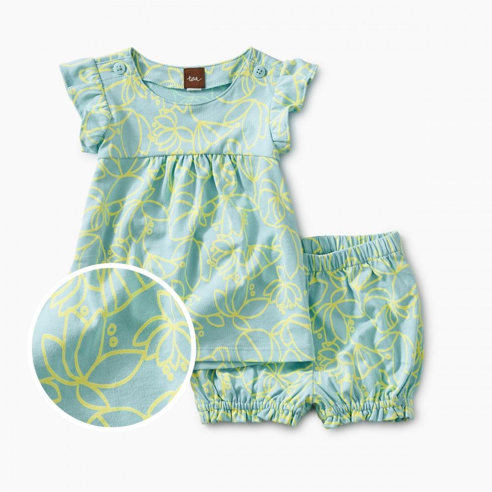 Knit Button Shoulder Baby Set
