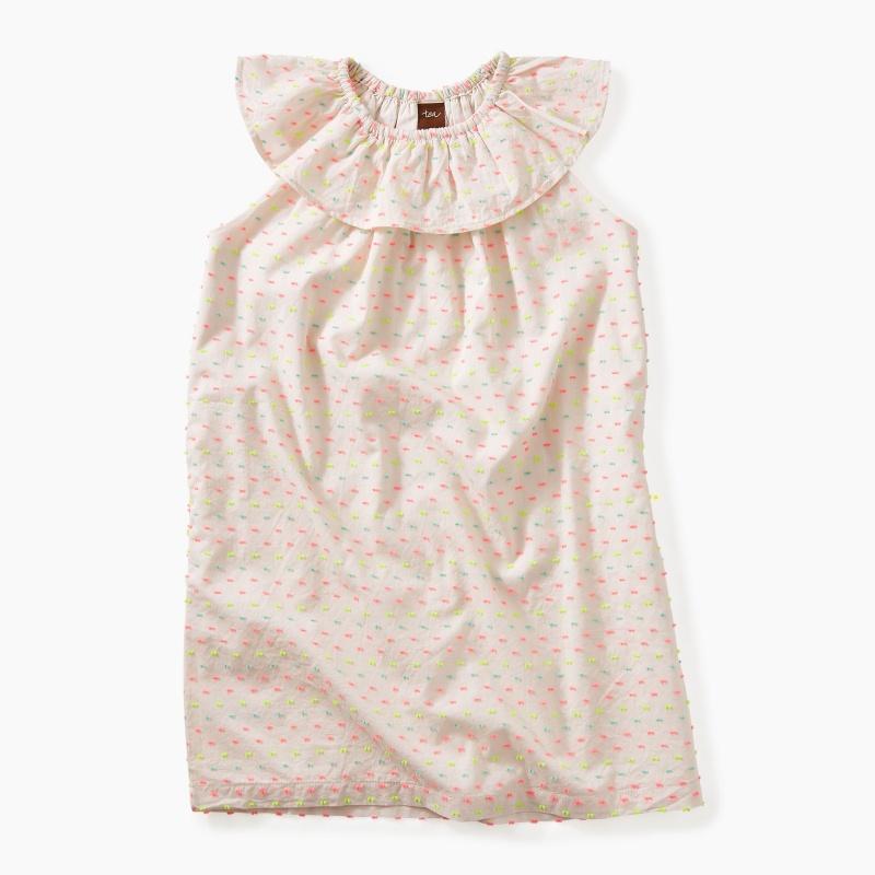 Confetti Ruffle Neck Dress