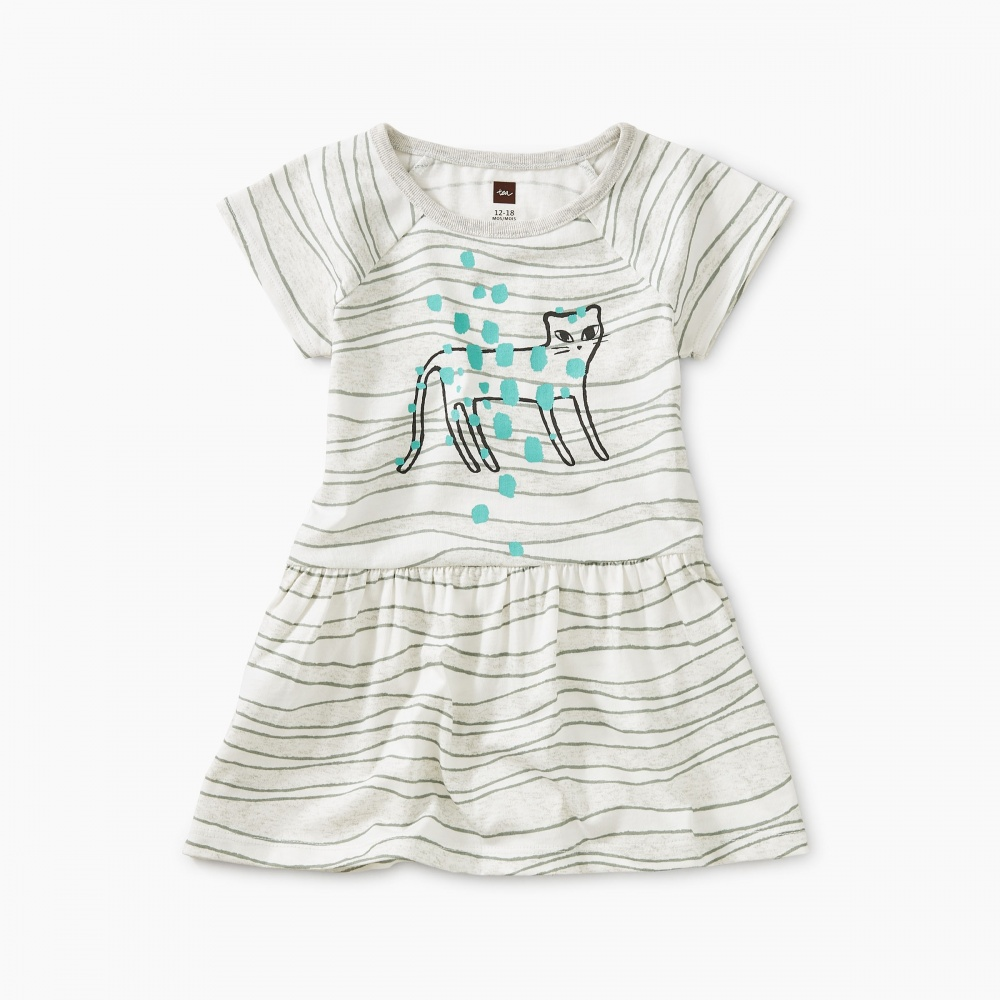 Tiger Raglan Skirted Baby Dress